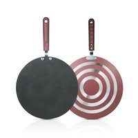 Wholesale stainless spreader - Kitchen Pancake Non -Stick Frying Pan Kitchen Tools Flat Pan Griddle Pan With Spreader And Spatula Crepe Maker Griddle
