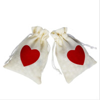 Wholesale 10X15cm Drawstring Candy Bags Wedding Favor Bags Gift Jewelry Bag Love In Heart Jewelry Storage Bags KKA5853