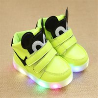 online shopping Led Luminous Shoes - 2018 Light fashion cartoon Glowing sneakers luminous children's shoes autumn and winter LED Korean boys and girls casual shoes