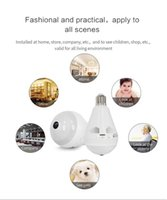 Wholesale bulb cctv security dvr camera for sale - Group buy HD MP Bulb Light Wireless IP Camera Wi Fi bulb Lamp Camera Degree FishEye Panoramic Camera Baby Monitor Home Security CCTV DVR