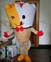 Wholesale ice cream mascot costumes - Hot sale EVA Material Helmet Cone ice cream Mascot Costumes Crayon Cartoon Apparel Birthday party Masquerade