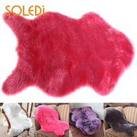 ingrosso coperture di sedia blu-Lavabile Soft Fluffy Wool 2-in-1 Chair Seat Cover Tappetino Pad Mat Bedroom HOT
