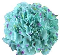 blauer lila blumenstrauß großhandel-größeres Blumenblatt blaue Hydrangea künstliche wed Blumen purpurrote und blaue silk Blume für Blumenwand wed Brautbogenblumenstrauß