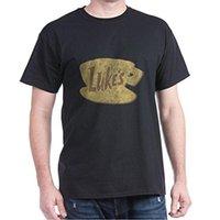 en iyi boyun tasarımları toptan satış-Serin T Shirt Tasarımlar Komik Ekip Boyun Toptan Vintage Gilmore Kızlar Lukes Diner Best Friend Erkekler Için Kısa Kollu T Gömlek