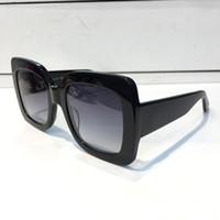 popular sunglasses оптовых-2018 популярные солнцезащитные очки роскошные женщины Марка дизайнер 0083S квадратный летний стиль полный кадр высокое качество УФ-защита смешанный цвет поставляются с коробкой