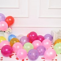 Wholesale home decor suppliers resale online - 300pcs Mixed Colors Latex Round Pearl Balloons Wedding Birthday Party Decoration Home Decor Festival Suppliers