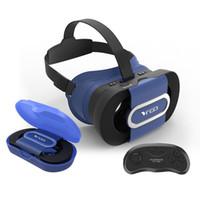3d vr glasses bluetooth venda por atacado-RITECH VR IR Dobrável Óculos 3D 3D Capacete Realidade Virtual 3D Jogo Para 4.7-6.0 Smartphone + Bluetooth Gamepad