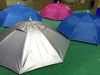 tête de parasols achat en gros de-Grande camouflage mobile pêche pêche à la ligne randonnée plage camping tête parapluie femmes hommes enfants 8Steel côte soleil pluie parapluies chapeau bonnet