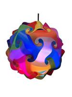 современный свет высокое качество оптовых-Высокое качество 30Pcs DIY Modern IQ Puzzle Jigsaw Light Lamp Shade Потолочный светильник iq Jigsaw lights Средний размер