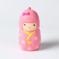 Wholesale free japanese toys for sale - DHL cm Squishies Sakura Kimono Girl Japanese Jumbo slow rising Kawaii Squishies Cream Scented Decompression Anxiety Toy