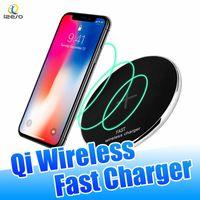 iphone schreibtischaufladeeinheit großhandel-Ultra Slim Fast Wireless Ladepad 10W 9V Schnellladegerät N300 Zink Legierung Metall Schreibtisch Ladegeräte für iPhone Samsung Qi-Enable Handys