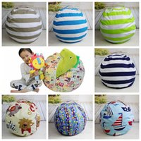Wholesale food cushion - 9 Colors Beanbag Chair Plush Toys Storage Bean Bags Kids Bedroom Play Mats Portable Couch Cushion Creative Clothes Storage Bag CCA8927 20pcs