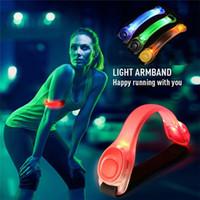 Wholesale Led Reflective Armband - Flashing LED Safety Night Reflective Belt Strap Arm Band Armband Cycling Running Sports Safety Outdoor Sports Durable Good Quality