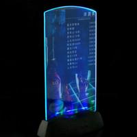 lumière du tableau de menu achat en gros de-Acrylique Lampe LED Menu Housse annonces spéciales Display LED Label Board Lobby Restaurant Hôtel Bar Decor light Menu