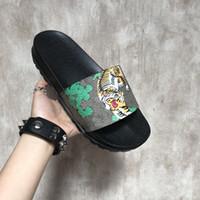 estilos de chinelos venda por atacado-Chinelos de luxo tigres moda sandálias de luxo das mulheres dos homens chinelos de design do gato do tigre verão chinelos huaraches flip new style marca sandália