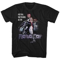 wissenschaft maschine großhandel-Robocop Science Fiction Action Film Teil Man Teil Maschine Erwachsenen T-Shirt