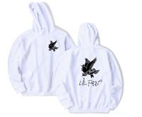 kuş üstü kadınlar toptan satış-Ağlayan Kırlangıç Kuş Desen Lil Peep Baskı Kapüşonlu Sweatshirt Erkek Kadın Hip Hop Kazak Hoodies Yüksek Sokak Gevşek Kazak Tops