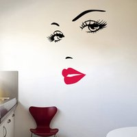 Wholesale lips rooms for sale - Marilyn Monroe quotes hot pink lips wall stickers for living room removable art home decoration diy decals vinylhaif