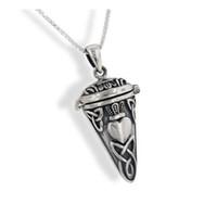 viales para cenizas al por mayor-Celtic Knot Claddagh Perfume Vial - Poison Poison - Urna Pendulum Pendant for Ashes Collar con kit de relleno de embudo
