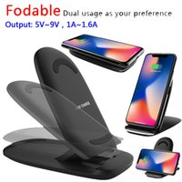 Wholesale Blackberry Charging Stand - Foldable Wireless Charger Fast Qi Wireless Charging Stand for Apple iPhone X 8 Samsung Note 8 S8 S7