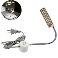 Wholesale wholesale for sewing machine - LED Sewing Machine Light Working Gooseneck Lamp 30 LEDs with Magnetic Mounting Base for Home or Sewing Machine Desk Lamps