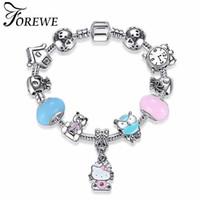 5311fd04a children hello kitty jewelry UK - FOREWE Cute Children Cat Hello Kitty  Bracelet for Women Kids