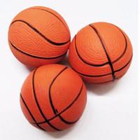 оранжевые шарики усилия оптовых-Kid Toy Squeeze Мягкая Пена Мяч Сжимая мяч Баскетбол Оранжевый Наручные Упражнения Снятие Стресса 6.3 СМ