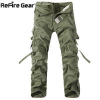 Wholesale army tactical gear resale online - ReFire Gear Casual Army Style Cargo Pants Men Multi Pocket Combat Tactical Pants Fashion Autumn Cotton Trousers