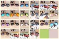 ingrosso telaio di colore degli occhiali degli uomini-Occhiali da sole europei e statunitensi, occhiali da sole sportivi da ciclismo per uomo. Occhiali da sole con montatura a specchio di colore 22colors