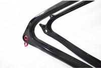 marco mtb completo al por mayor-Bastidor de bicicleta MTB de fibra de carbono completo Marco de montaña 9-9 o 9-7 o 9-6 3K Auricular de cabeza de sillín brillante o mate