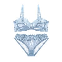 Wholesale Sexy Brassiere Lingerie - 2018 NEW ABCD France brand lace bra & brief sets push up bra set for women underwear set brassiere transparent lingerie