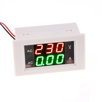 ingrosso lcd dc amperometro-DC 0-100 V 20A Digital Voltmetro Amperometro Car Solar Power Charger LCD Digital Dual Display Monitor Tensione Tester Tester Bianco / Nero
