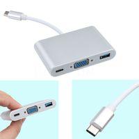 Wholesale Usb Hub Female Male - Kebidumei USB 3.1 Type-C To VGA  USB3.0  Type C Adapter Male To Female Converter Hub Charging Port For MacBook