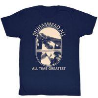 navy men abbildungen großhandel-Muhammad Ali Männer Kurzarm T-shirt Navy Bild Perfekte Kühle Lässige Stolz T-shirt Männer Unisex Neue Mode T-shirt