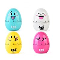 Wholesale egg timers - Multi Function Calculagraph Durable Mechanical Remontoir Design Time Meter Emoji Pattern Plastic Egg Machinery Timer Hot Sale 6 3yy B