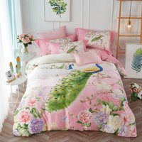 King Size Butterfly Sheets UK   Luxury Tencel Summer Bedding Set 4pcs Queen  King Size Peacock