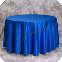 mantel damasco al por mayor-Jacquad Damask Round Table Cloth \ Polyester Mantel Envío gratis
