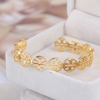 Wholesale hollow gold bangles resale online - New Brass Material Love Punk Opened Hollow Round Shape For Width Design Cuff Bracelet Cufflink Send Women And Mother Wire Bracelets Bangles