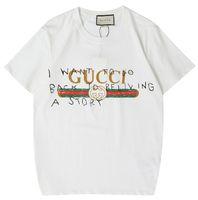 dağ tişörtleri toptan satış-GUCCI erkek karla kaplı dağlar T Gömlek Kanye West T-Shirt erkek giyim Tops Tees Hip Hop Justin Bieber Gömlek