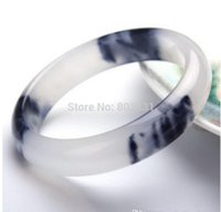 Wholesale tibet silver blue jade for sale - Group buy natural quartzite bracelet ice black blue and white bracelet female jade bracelet