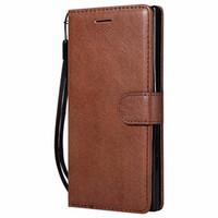 xperia handys großhandel-Brieftasche Fall Für Sony Xperia XZ Flip Cover Reine Farbe Pu-leder Handy Taschen Coque Fundas Für Sony XZ