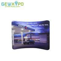Wholesale rack rolling - 10ft*8ft Tension Fabric Curved Advertising Backdrop With Banner Printing,Trade Show Pop Up Booth Portable Aluminum Wall Display