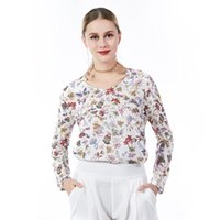 Wholesale beauty for sale - 2018 Beauty Garden Casual Women Print Blouse O Neck Long Sleeve Fashion Blouse Female Floral Printing Spring Blouse