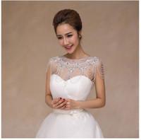 châle de style coréen achat en gros de-Nouvelle chaîne coréenne d'épaule d'épaule de style, longue dentelle de collier, châle de mariage mince, robe de mariée en cristal en gros.