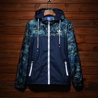 erkekler yüksek yaka toptan satış-Marka Tasarımcısı Erkek Ceketler Sonbahar Güneş Koruma Ceket Yüksek Kalite Ince Rüzgarlıklar Açık Spor Kamuflaj Ceket Streetwear