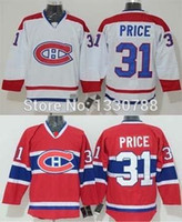 Wholesale factory outlet prices - Factory Outlet, Mens Cheap Montreal Canadiens Carey Price Jersey Red Home White Away Stitched #31 Canadians Ice Hockey Jersey 201