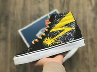 Wholesale blue brains - 2018 Vault x Bad Brains Classic Sk8-Hi LX Old Skool Casual Canvas Running Shoes Women Men Black Yellow Designer Skateboard Sneakers