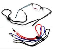 Wholesale nylon cord strap resale online - Adjustable Eyeglass Holder Nylon Cord Glasses Eyewear Neck Sports Strap String Black Red Blue Brown