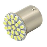 Wholesale led car light bulb white lamp resale online - 2pcs SMD Car LED Lamp P21W BAY15D V Auto Brake Bulb Turn Lights Parrking Lamp Bulb DC12V White Yellow Car styling