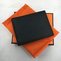 erkekler deri para çantası toptan satış-Hakiki Deri Kredi Kartı Tutucu Cüzdan Klasik Lüks Tasarımcı ID Kart Case Çanta Seyahat Adam 2018 için Yeni Moda Para Çantası 5 Renkler